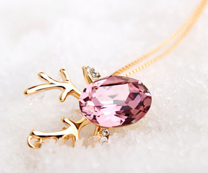 necklace, crystal, and fashion jewelry image