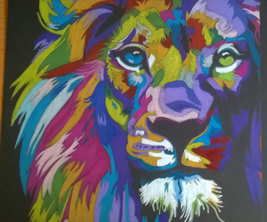 alma, dibujo, and leon image