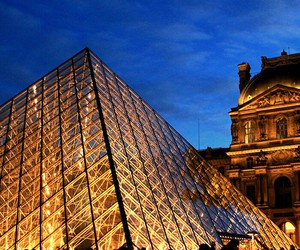 france, paris, and louvre museum image