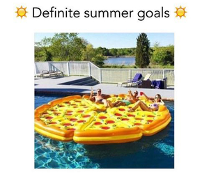 pizza, summer, and goals image