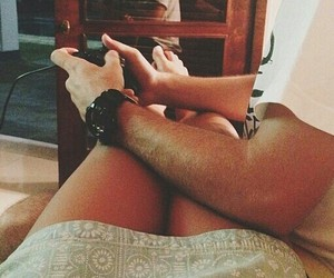 casal, videogame, and amor image