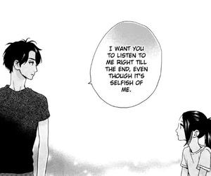 manga, monochrome, and listen image