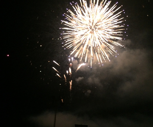 fireworks, fourth, and lights image