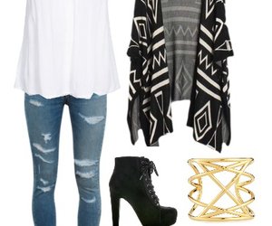 black, fashion, and gold image