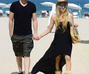 beach, together, and avrillavigne image