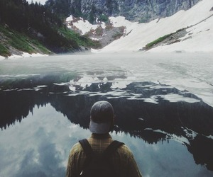 boy, mountains, and nature image