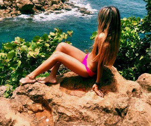 tropical, summer, and girl image
