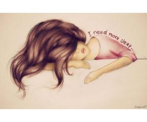 sleep, girl, and hair image