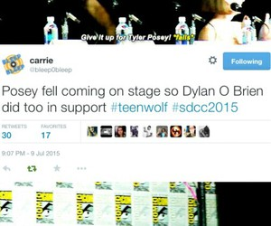 teen wolf, tyler posey, and sdcc image