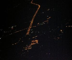 airplane, city light, and light image