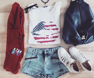 outfit, fashion, and lips image