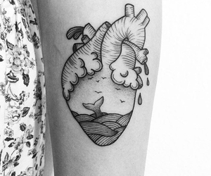 arm, heart, and tattoo image