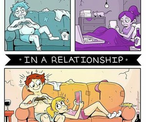 Relationship, funny, and alone image