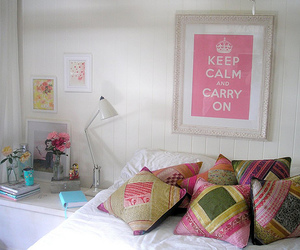 keep calm, pink, and room image