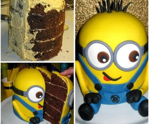 minions, cake, and food image