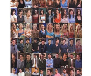 chandler bing, rachel green, and joey tribianni image