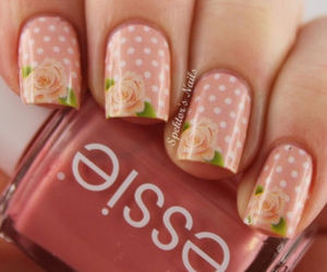 nails, rose, and pink image