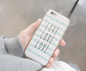 love, iphone, and case image