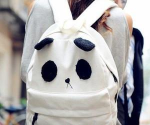panda, bag, and backpack image