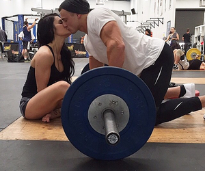 couple, gym, and fitness model image