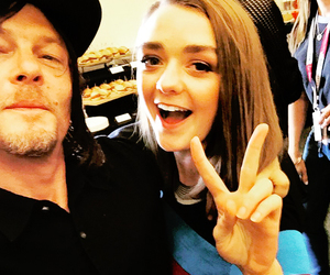 norman reedus, williams, and maisie image