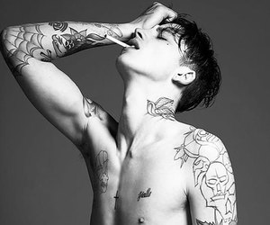 Ash Stymest, blue eyes, and cool image