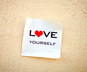 love, text, and love yourself image