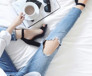 cofee, fashion, and style image