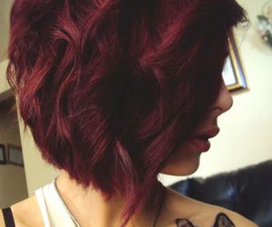 tattoo, hair, and red image