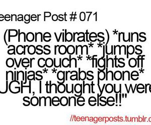 teenager post, phone, and funny image