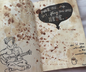 brown, coffee, and book image