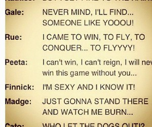 hunger games, rue, and songs image