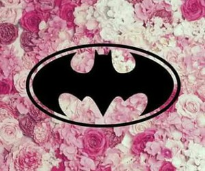 batman, flowers, and pink image