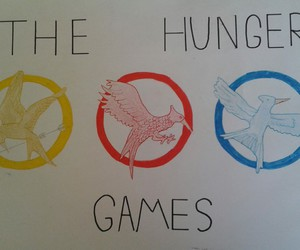 book, drawing, and the hunger games image