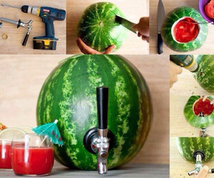 watermelon, diy, and drink image
