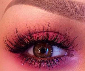 eyes, girl, and make up image