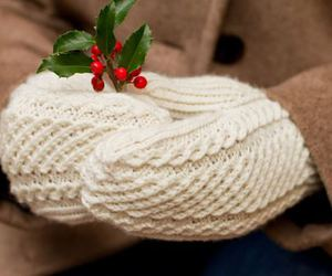 christmas, winter, and mittens image