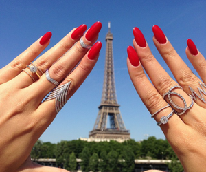 paris, nails, and red image