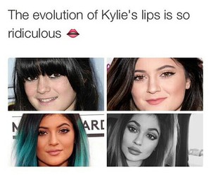 lips, funny, and kylie jenner image