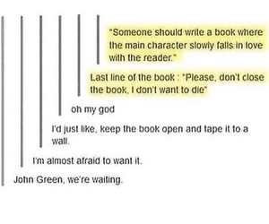book, john green, and tumblr image