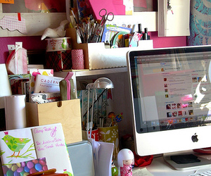 apple, desk, and mac image