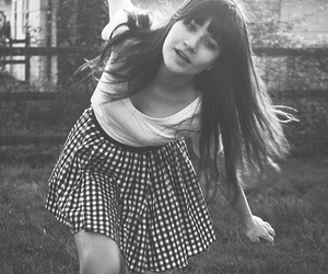 girl and black and white image