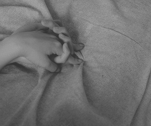 couple, sheet, and hand in hand image