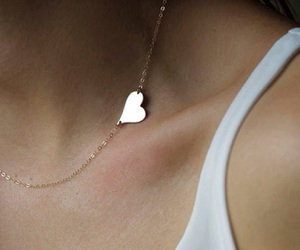 different, heart, and necklace image