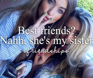 best friends, friendships, and sisters image