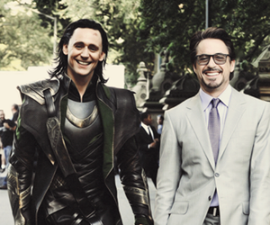 loki, iron man, and tom hiddleston image
