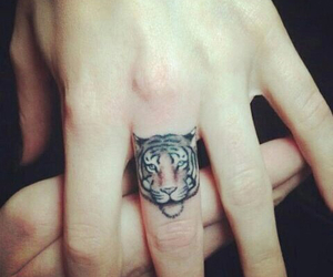 tiger, animal, and tattoo image