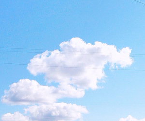 clouds, minimalistic, and pastel image