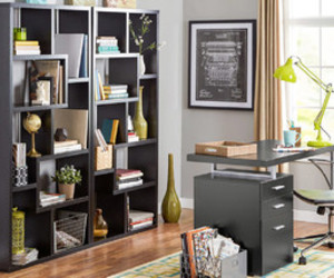bookcases, home decor, and shelves image