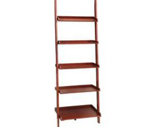 bookcases, ladder, and home decor image